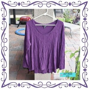 Pretty Textured Purple Long Sleeved Top